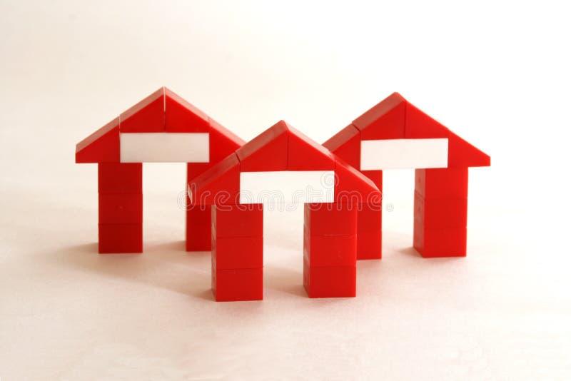 Abstrakte Häuser stockbild