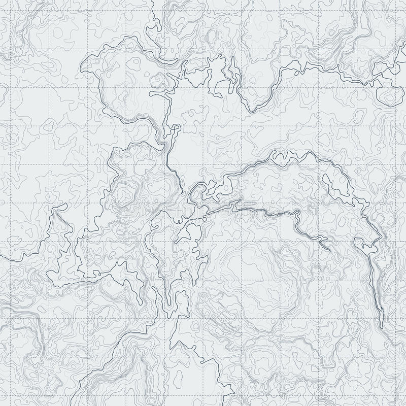 Abstrakte Höhenlinienkarte mit unterschiedlicher Entlastung Topographische Vektorillustration für Navigation stock abbildung