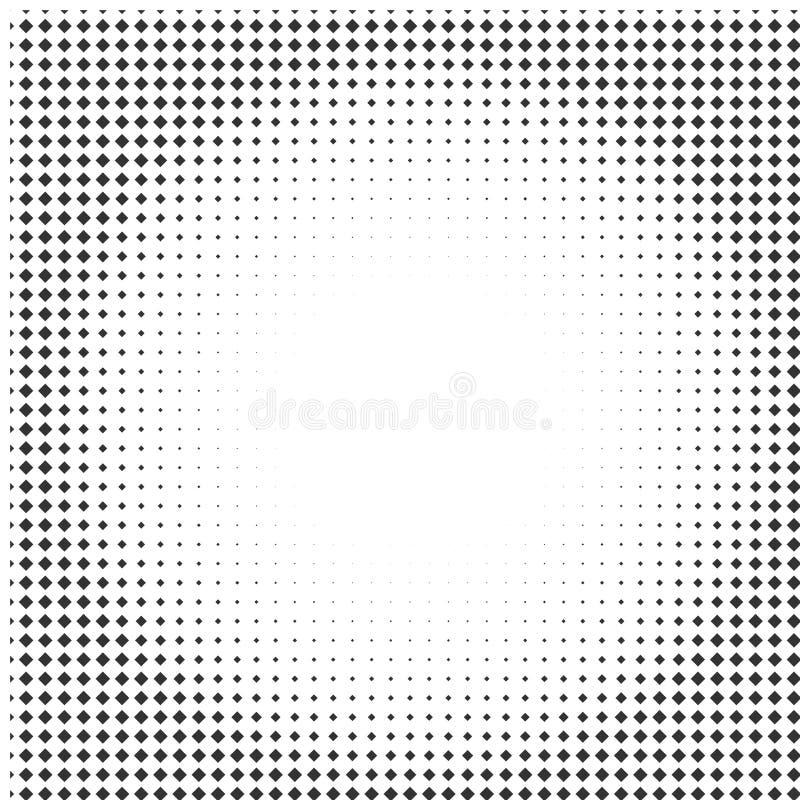 Abstrakte Halbtonbeschaffenheit mit Rauten stock abbildung