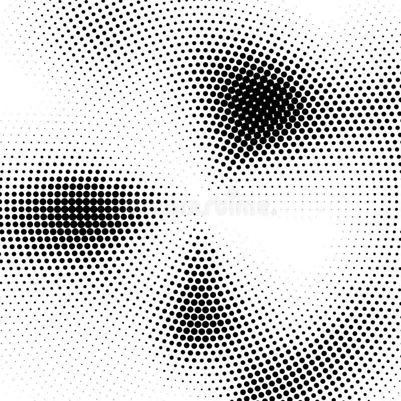 Abstrakte Halbtonbeschaffenheit Vektorschwarzweiss-Hintergrund stock abbildung