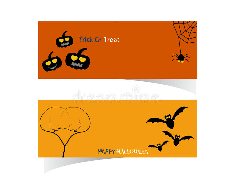 Abstrakte Halloween-Fahne stock abbildung
