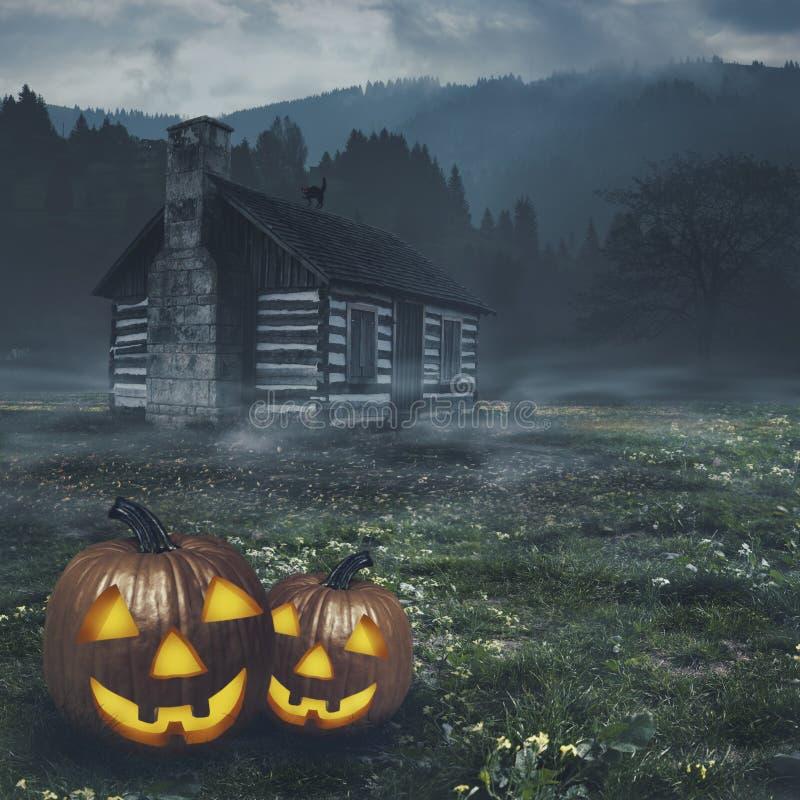 Abstrakte Halloween-Hintergründe lizenzfreie abbildung