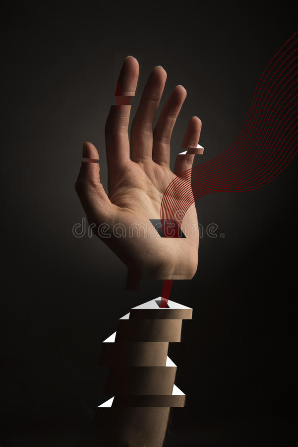 Abstrakte Hand lizenzfreie abbildung