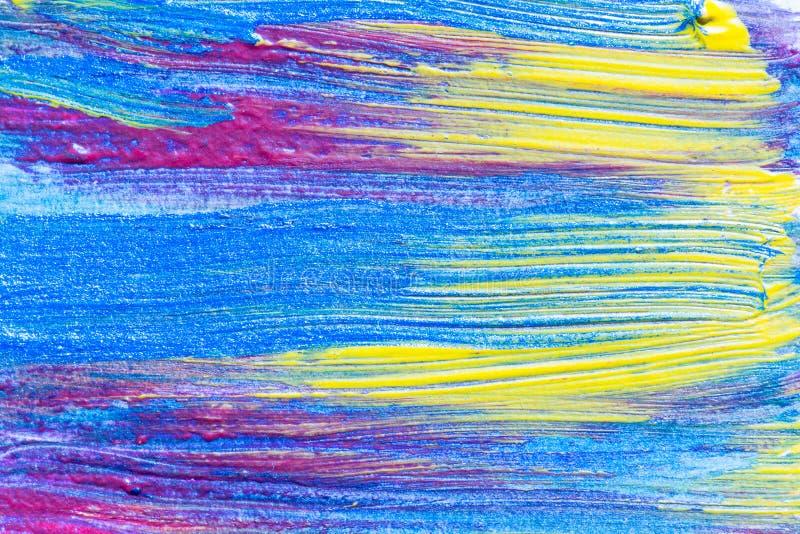 Abstrakte Hand gezeichneter kreativer Kunsthintergrund der Acrylmalerei clo stock abbildung