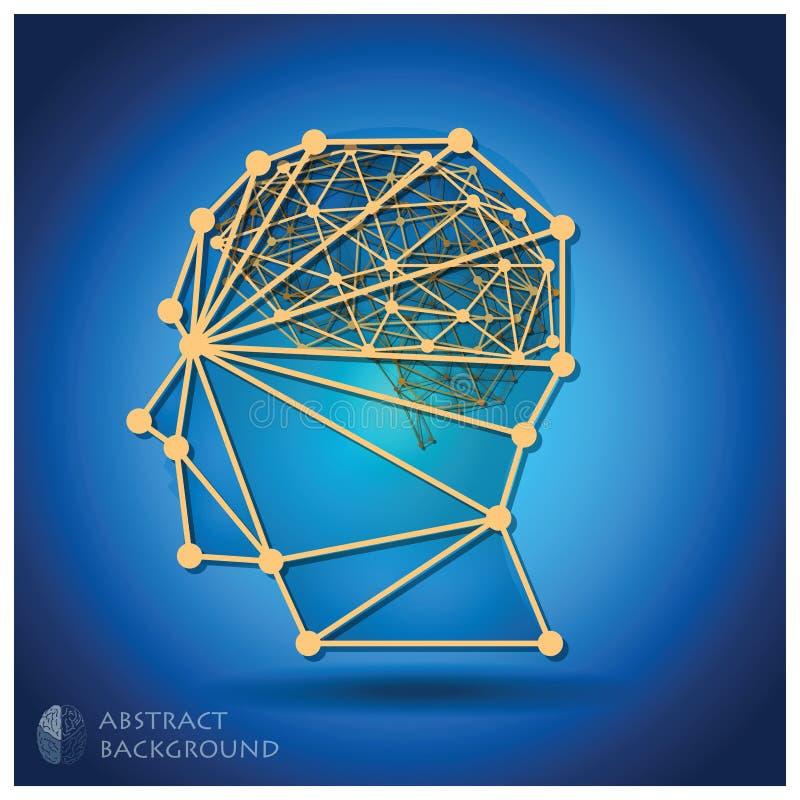 Abstrakte Hauptform mit Brain Background vektor abbildung