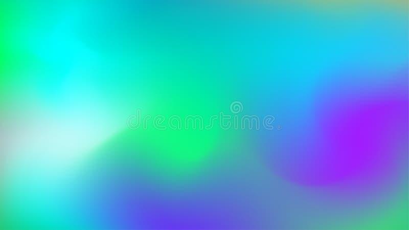Abstrakte hellblaue, violette, grüne moderne Steigung blured Hintergrund lizenzfreie abbildung