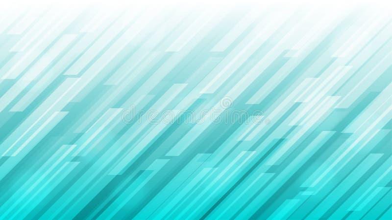 Abstrakte, helle, diagonale Streifen Textur in gradfarbenem Teal Hintergrund lizenzfreie abbildung