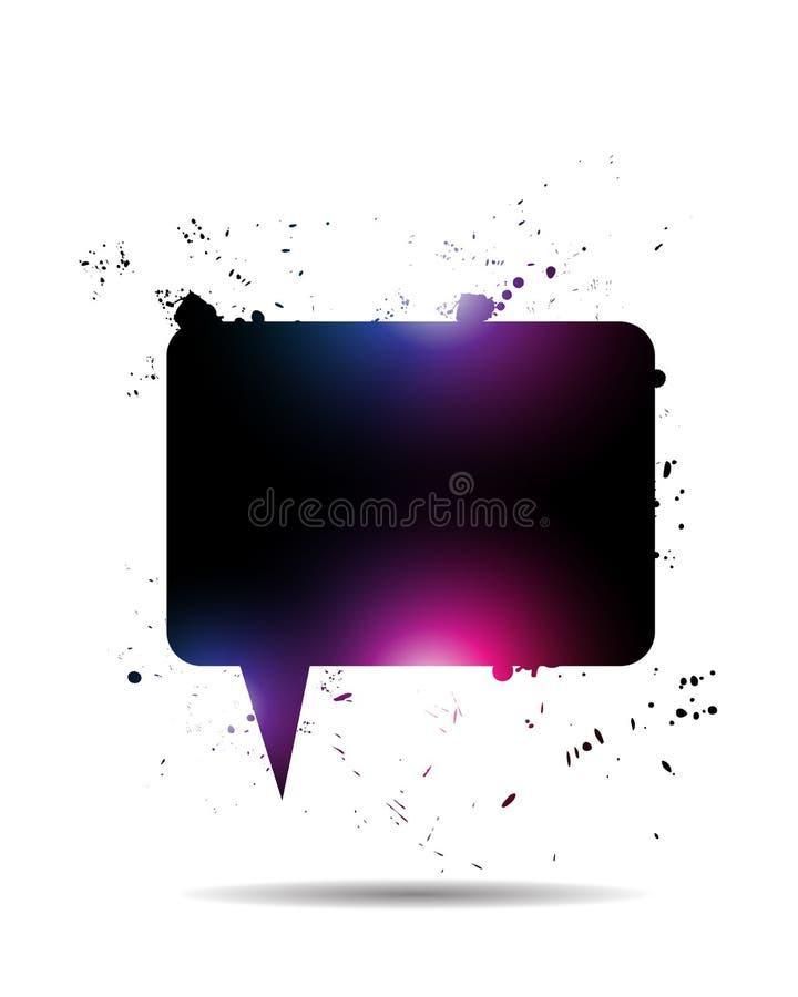 Abstrakte helle Sprache-Luftblase lizenzfreie abbildung