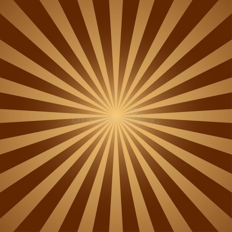 Abstrakte hellgelbe Sonne strahlt Hintergrund aus Vektorabbildung ENV 10 lizenzfreie abbildung