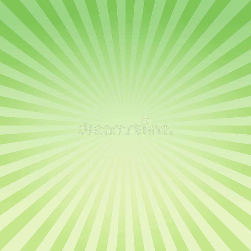 Abstrakte hellgrüne gelbe Steigung strahlt Hintergrund aus Vektor ENV 10 cmyk stock abbildung