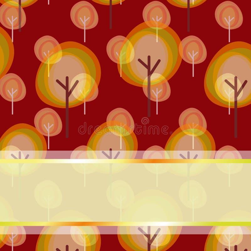 Abstrakte Herbstbaum-Grußkarte vektor abbildung
