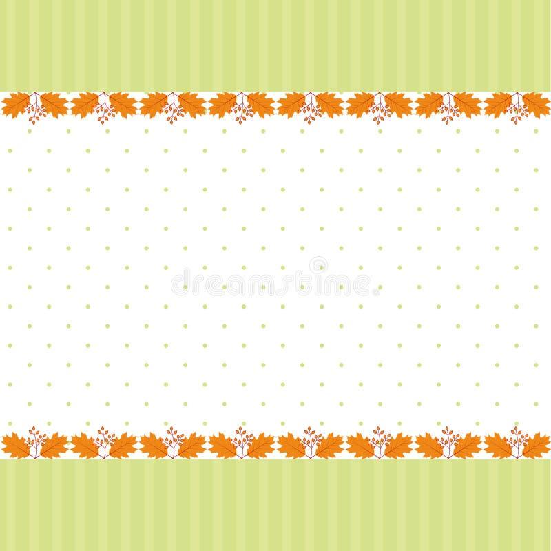 Abstrakte Herbstblatt-Grußkarte stock abbildung