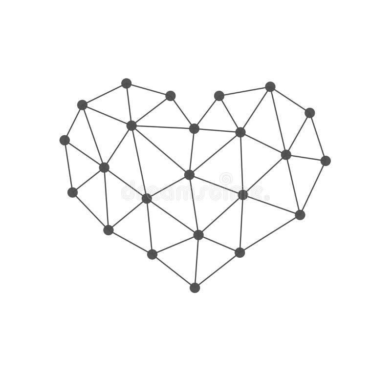 Abstrakte Herz-Ikone lizenzfreie abbildung