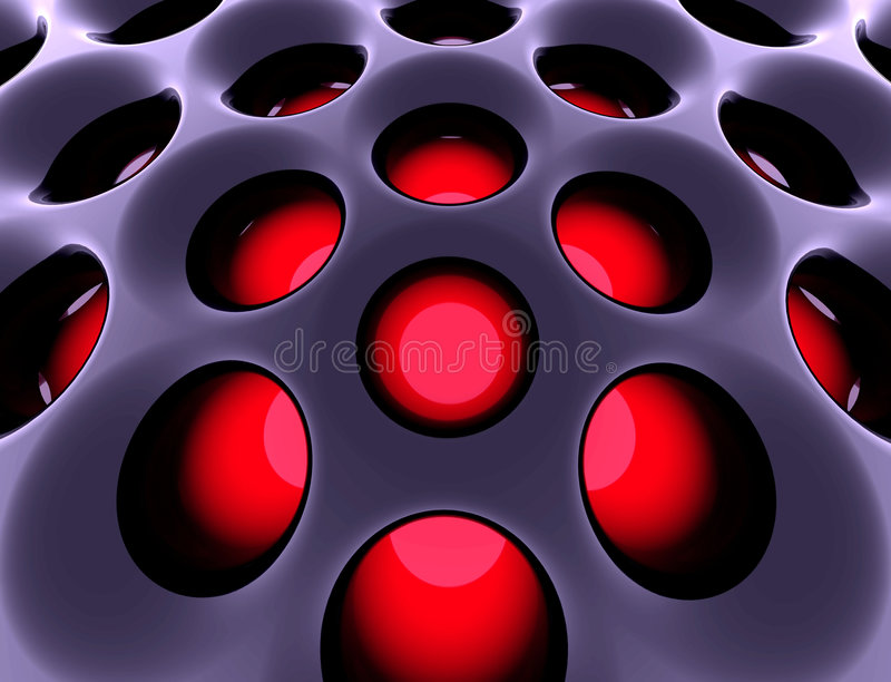 Abstrakte Hightech- Struktur. 3d übertrug Bild. lizenzfreie abbildung