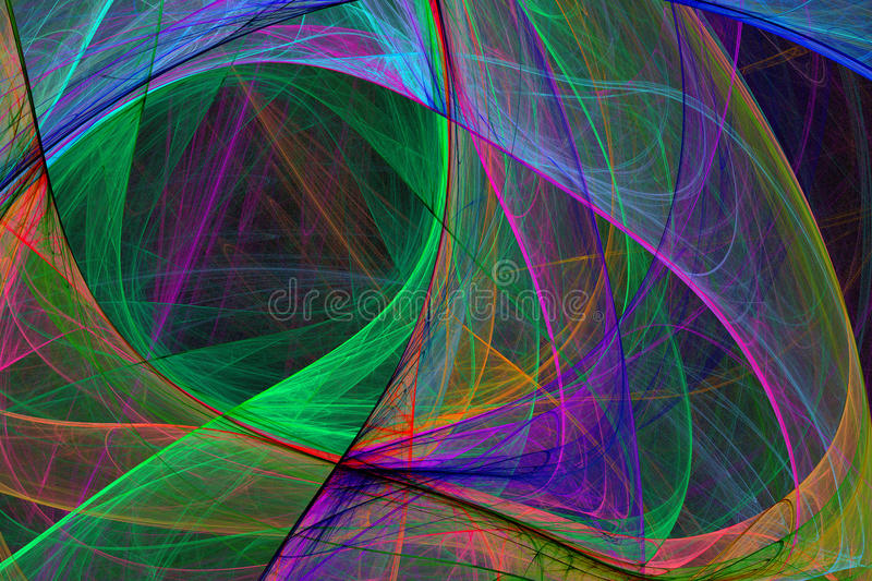 Abstrakte Hightechs-glühender Hintergrund vektor abbildung