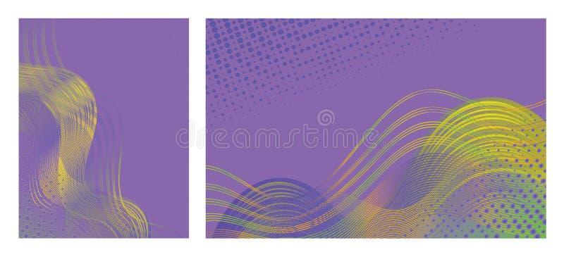 Abstrakte Hintergründe mit modischem buntem Entwurf für Broschüren, Plakate, Darstellungen und Fahnen vektor abbildung