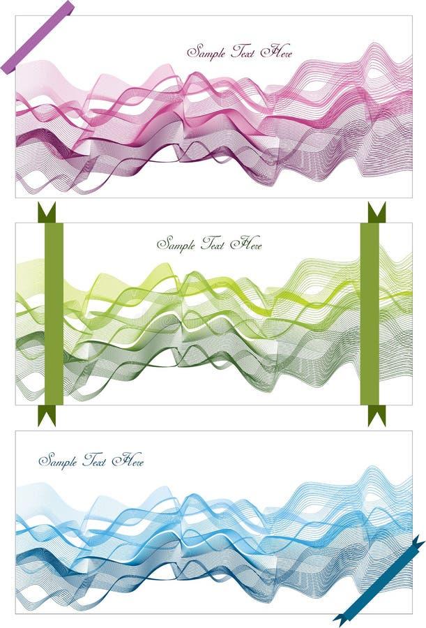 Abstrakte Hintergründe mit Wellen und Bändern stock abbildung