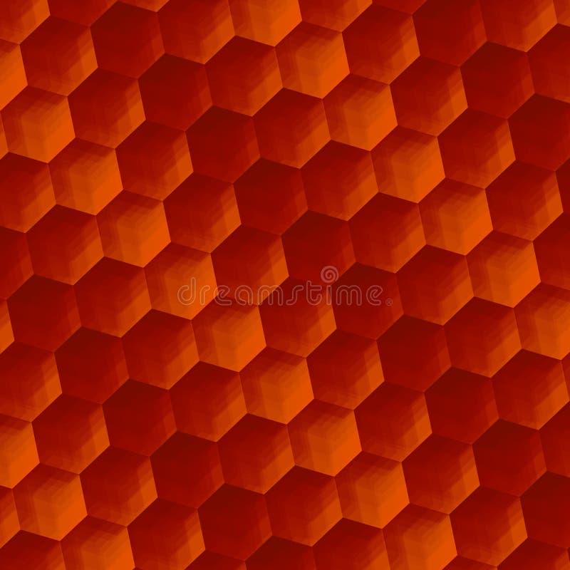 Abstrakte Hintergrund-Kunst Weinlese Rusty Texture Parkett oder Boden Geometrische Muster-Hexagone Illustrations-Gestaltungseleme vektor abbildung
