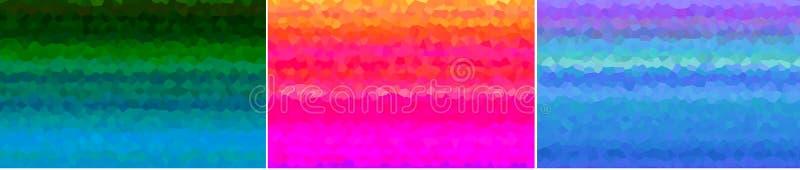 3 abstrakte Hintergrund-mutige Farben stock abbildung