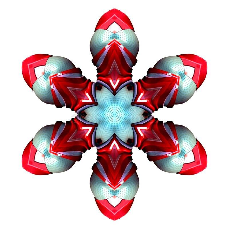 Abstrakte Hintergrund-, Rote und hellblaue, digitaleillustration vektor abbildung