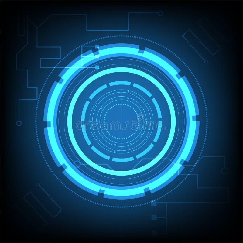 Abstrakte Hintergrund Zusammenfassung futuristisch auf Leiterplatte lizenzfreie abbildung