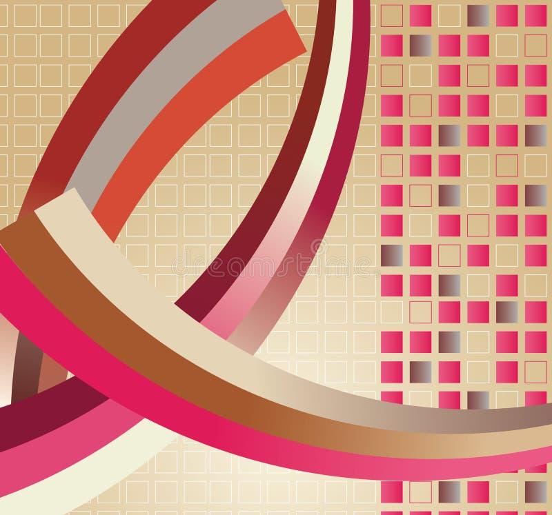 Download Abstrakte Hintergrundabbildungauslegung Vektor Abbildung - Illustration von kurve, feld: 9089089