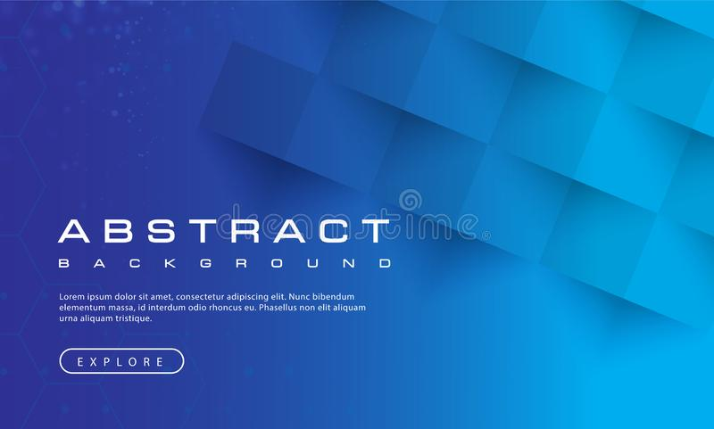 Abstrakte Hintergrundbeschaffenheit des blauen Himmels, blaues gemasert, Fahnenhintergründe, Vektorillustration lizenzfreie abbildung