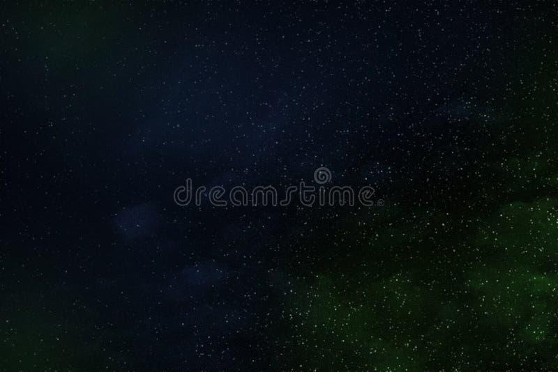 Abstrakte Hintergrundbeschaffenheit des entfernten Sternraumes und des mehrfarbigen Nebelflecks, Illustration vektor abbildung