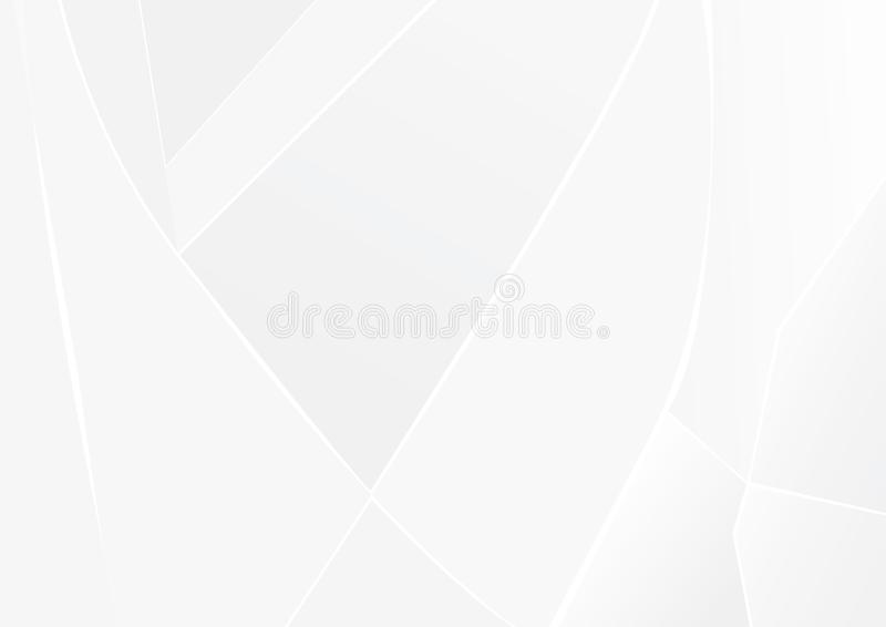 Abstrakte Hintergrunddesign-Vektor Illustration der wei?en und grauen Farbtechnologie moderne stock abbildung