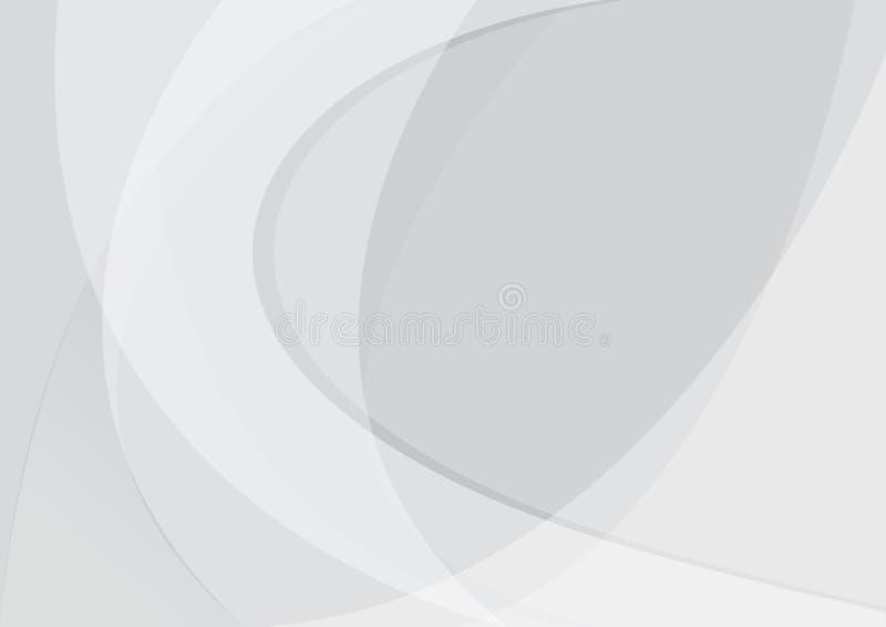 Abstrakte Hintergrunddesign-Vektor Illustration der wei?en und grauen Farbtechnologie moderne vektor abbildung