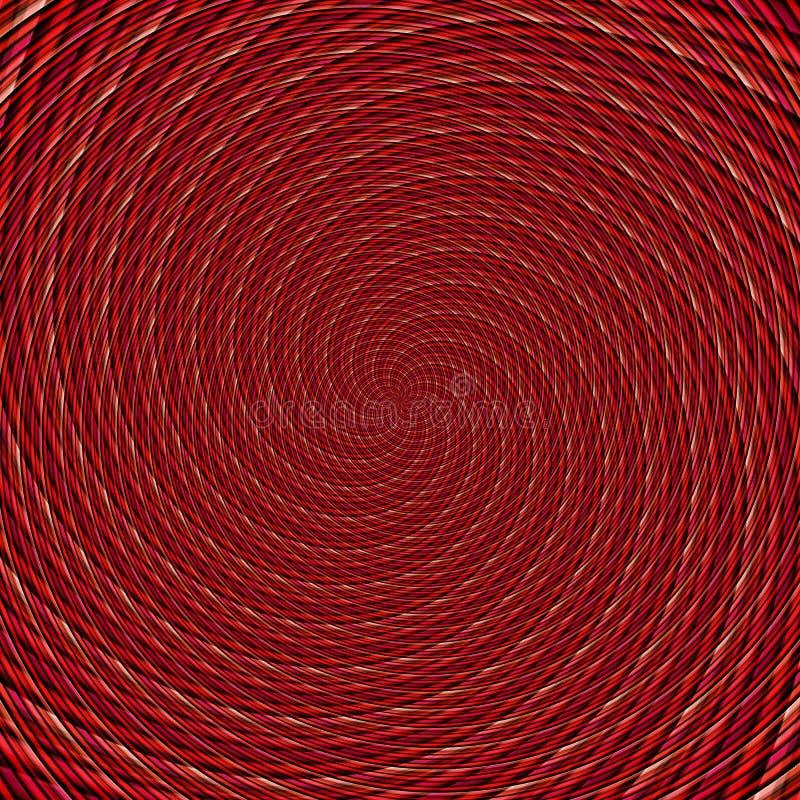 Abstrakte Hintergrundillusion hypnotische Illustration, Wahnvorstellung attraktiv lizenzfreie abbildung