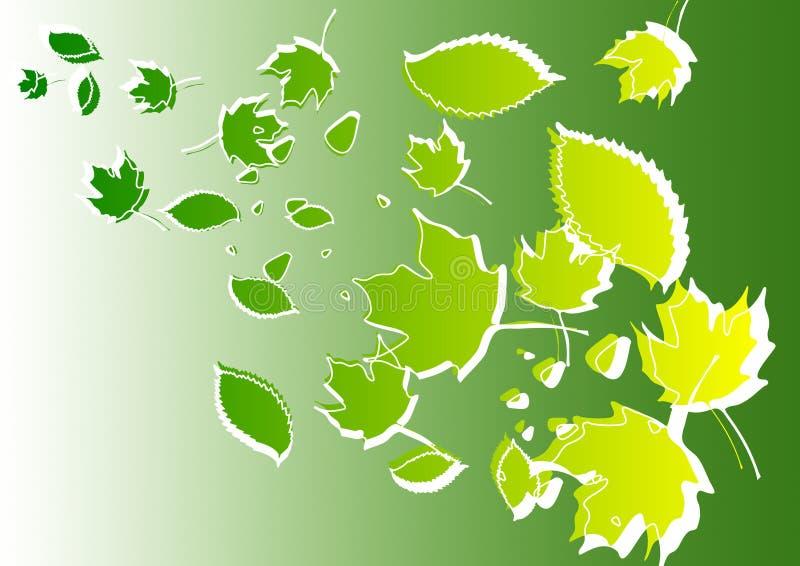 Abstrakte Hintergrundillustration der Blätter stock abbildung