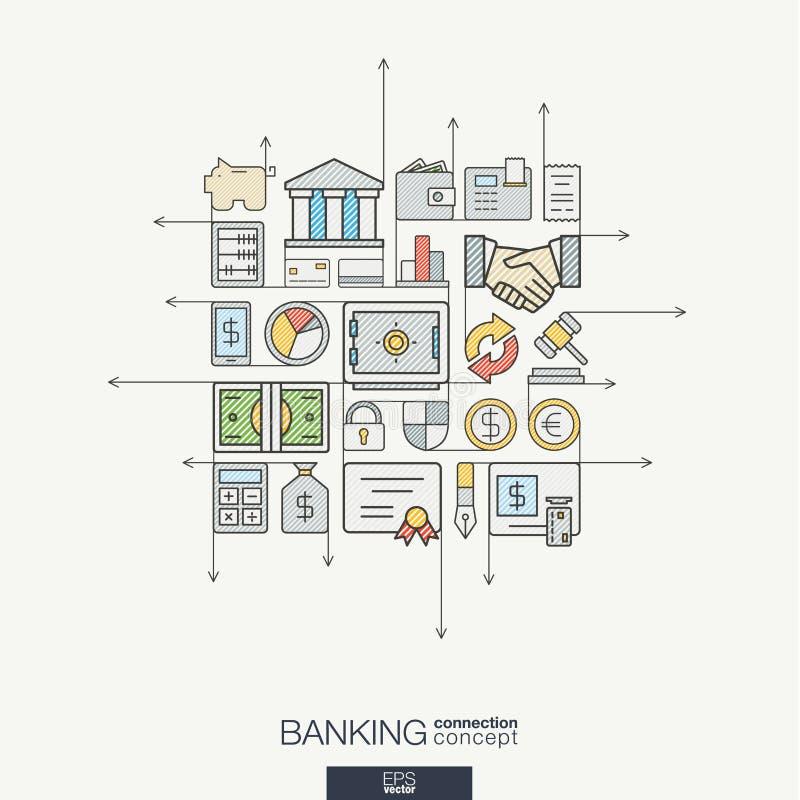 Abstrakte Hintergrundillustration für Netz, Geld, Karte, Bank, Geschäft, Finanzkonzepte vektor abbildung