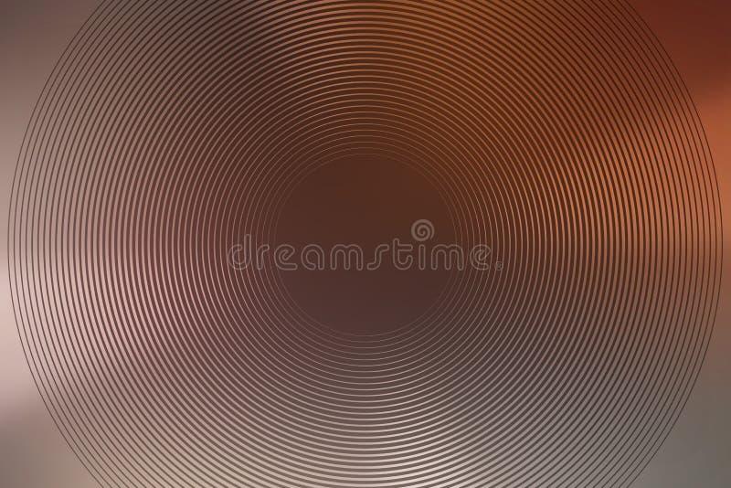 Abstrakte Hintergrundkupfer-Beschaffenheitssteigung folie stock abbildung