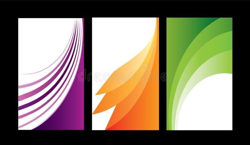 Abstrakte Hintergrundprobe der farbigen Karten lizenzfreie abbildung