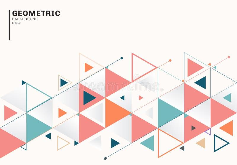 Abstrakte Hintergrundschablone mit bunten Dreiecken und Pfeilen f?r Gesch?ft und Kommunikation in der flachen Art Geometrisches M vektor abbildung