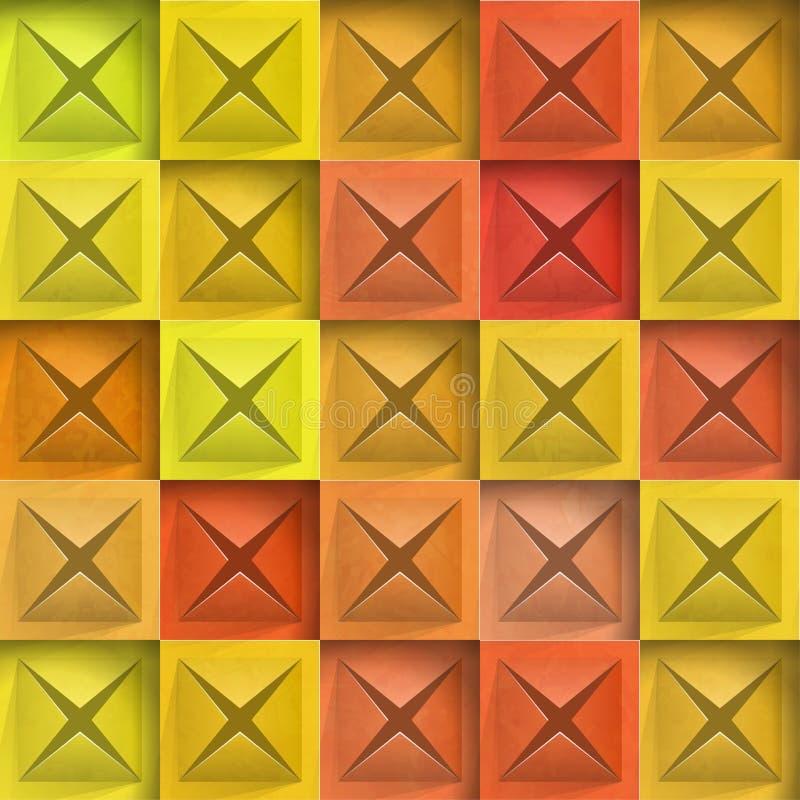 Abstrakte Hintergrundsteinquadrate vektor abbildung