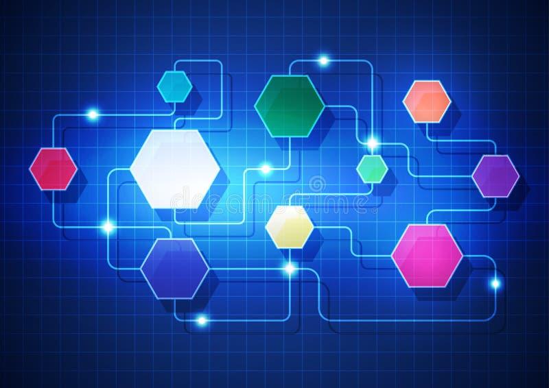 Abstrakte Hintergrundtechnologie in der vektorabbildung erstellt lizenzfreie abbildung