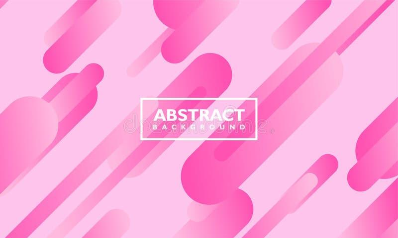 Abstrakte Hintergrundvektorschablone mit ovaler Form auf rosa Farbe vektor abbildung