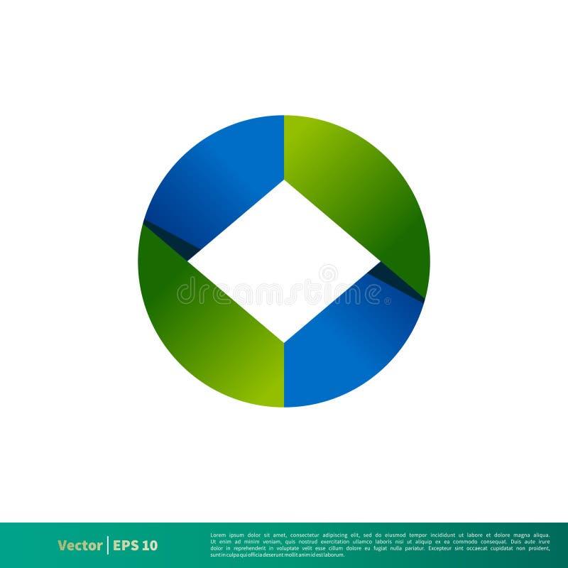 Abstrakte Ikone 3D Logo Template Illustration Design Vektor ENV 10 vektor abbildung