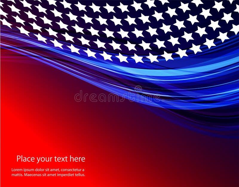 Abstrakte Illustration der amerikanischer Flagge vektor abbildung