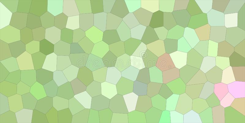 Abstrakte Illustration der Betäubung des grünen und purpurroten bunten mittleren Größenhexagons Guter Hintergrund für Ihre Arbeit lizenzfreie abbildung