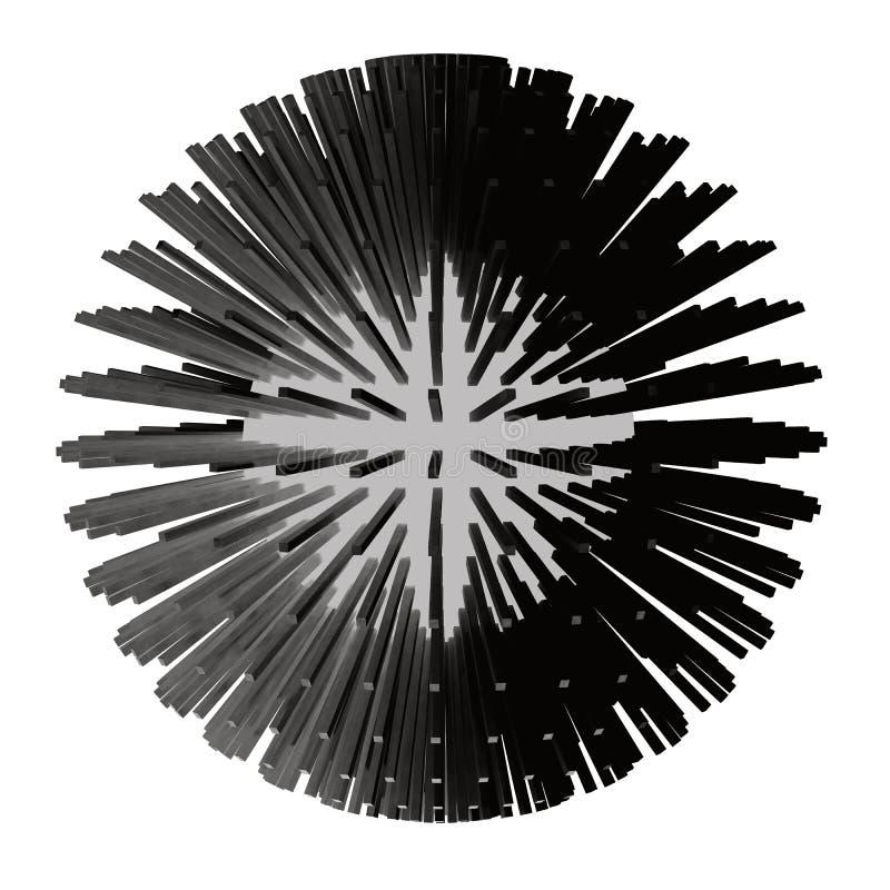 Abstrakte Illustration des Bereichs 3d matrix stock abbildung