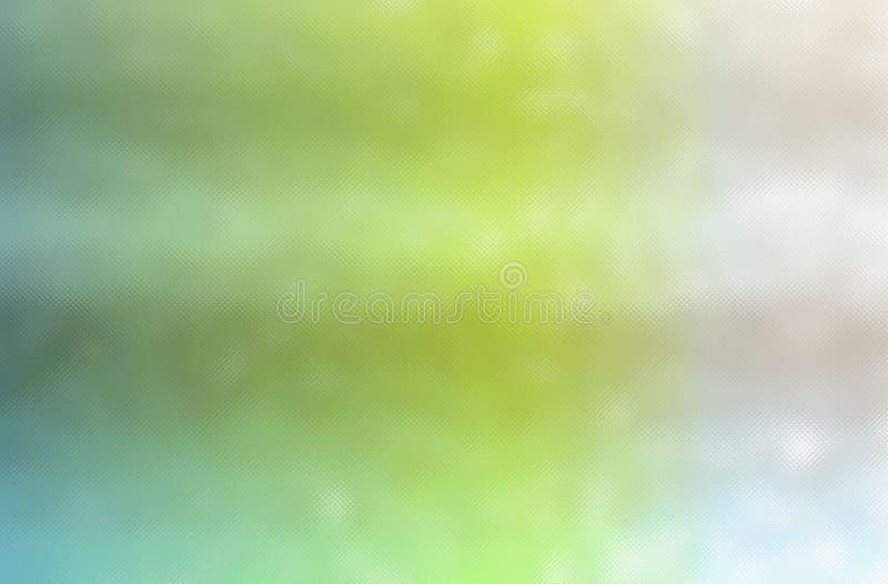 Abstrakte Illustration des grünen, blauen und sahnigen bunten durchgehenden kleinen Glashintergrundes stock abbildung