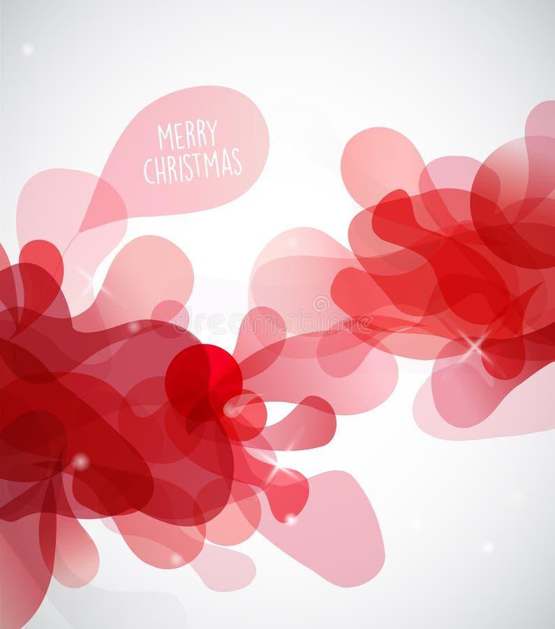 Abstrakte Illustration mit rote Farbnebel mit frohen Weihnachten stock abbildung
