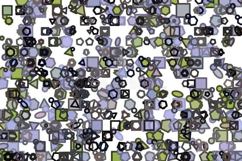 Abstrakte Illustrationen der Linie oder der Form, begrifflich Hintergrund, kreativ, Wiederholung u. digitales stock abbildung