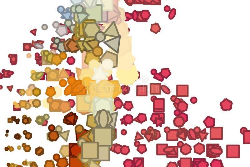 Abstrakte Illustrationen der Linie oder der Form, begrifflich Kreativ, Art, Segeltuch u. generatives stock abbildung
