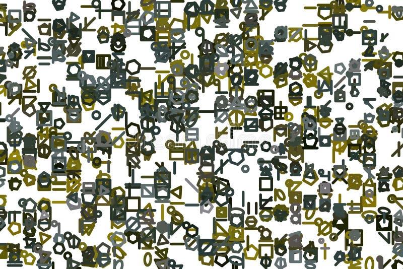 Abstrakte Illustrationen der Linie oder der Form, begrifflich Vektor, Zeichnung, Tapete u. Segeltuch stock abbildung