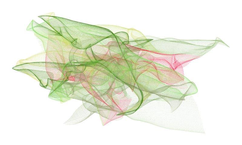 Abstrakte Illustrationen der rauchigen Linie Kunst, begrifflich Beschaffenheit, Farbe u. Tapete vektor abbildung