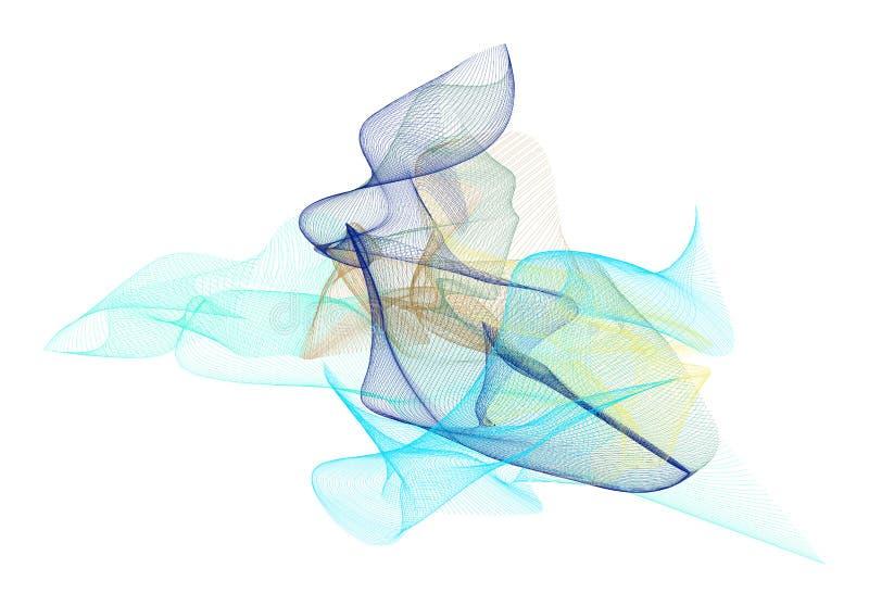 Abstrakte Illustrationen der rauchigen Linie Kunst, begrifflich Dekoration, Zeichnung, Muster u. Beschaffenheit vektor abbildung